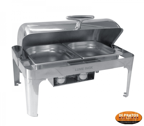title=RÉCHAUD CHAFING DISH 2 CUBAS 1/2