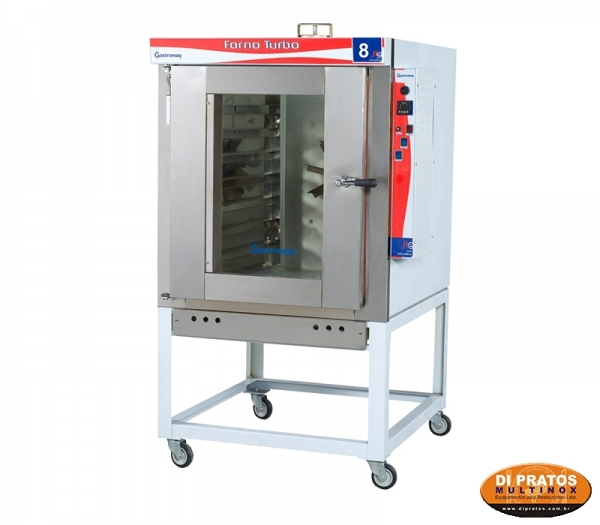 title=FORNO TURBO 8 ASSADEIRAS EL�TRICO 220 V