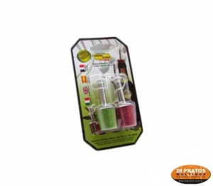 KIT 2PC DOSADOR BICOLOR ROLHA POLIM
